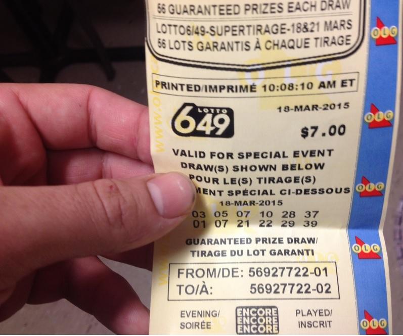 Lotto max prizes won