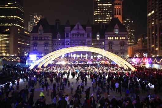 New Year S Eve Countdown And Fireworks At Toronto S Nathan Phillips