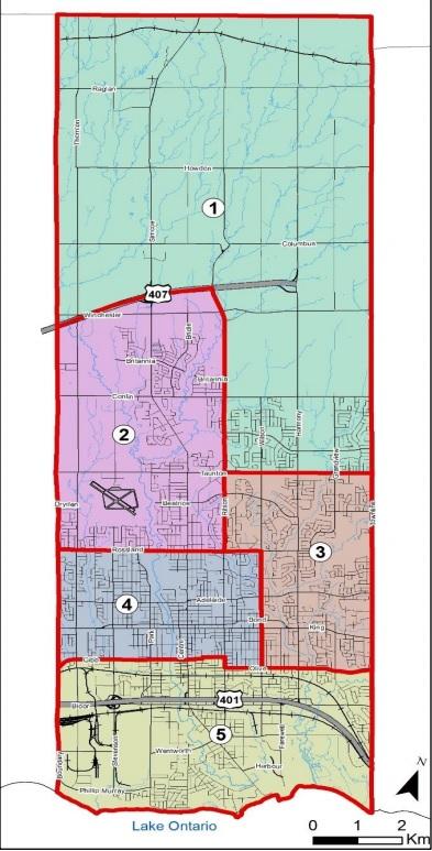 New Oshawa Ward Boundaries June 15 Co Of City Of Oshawa Durham