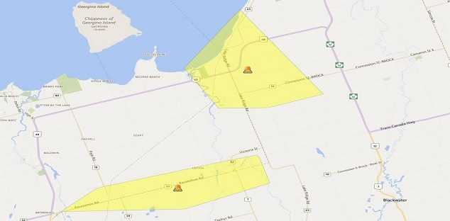 Hydro One Reporting Outages Across Southern Ontario Including Brock