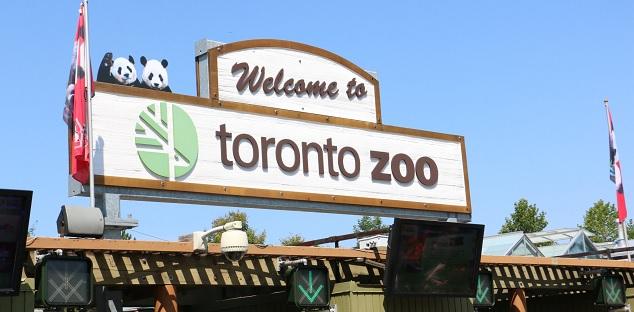 Toronto Zoo welcome sign