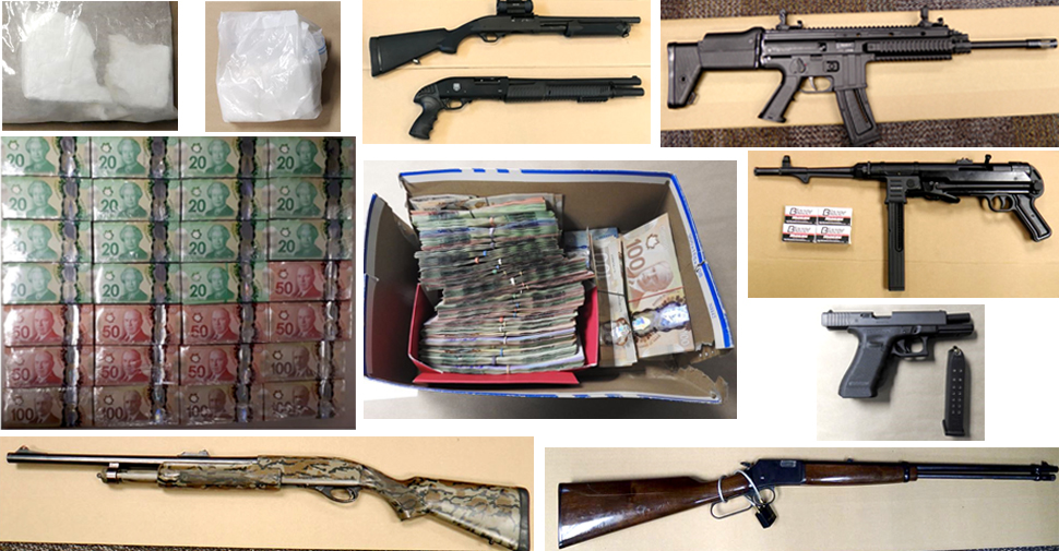 DRPS lay 147 charges in massive drug and gun trafficking investigation