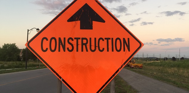 Sewer construction lane closures on Brock Road in Pickering