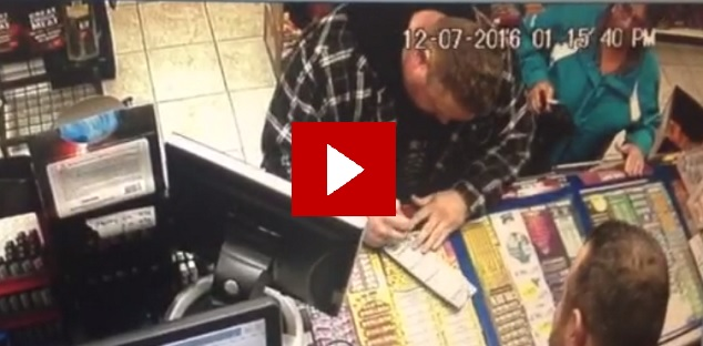 Video: Watch Courtice man scan lotto ticket to reveal