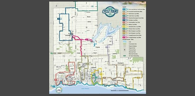 Map Of Durham Region New map shows off more than 700 kilometres of bike trails across