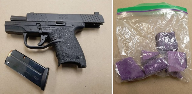 Two arrested after Durham police seize gun and drugs in Oshawa