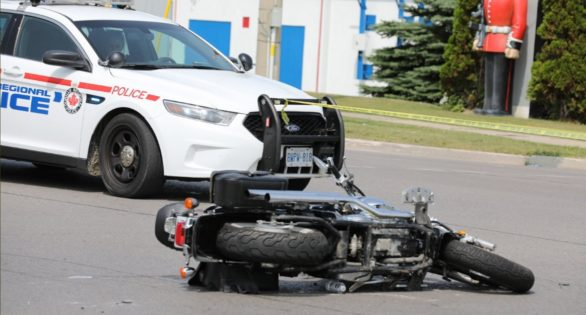 Motorcyclist suffers serious injuries after crash in Ajax