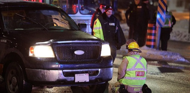 Man in live lane of traffic struck by pickup truck in Whitby