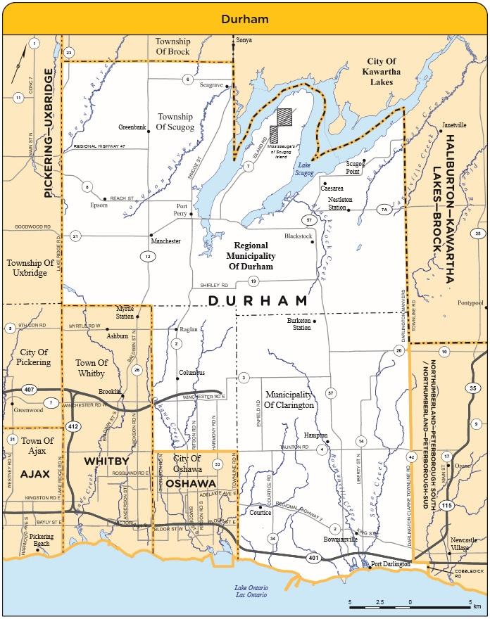 Durham Ontario Map RIDING MAP – DURHAM co ELECTIONS ONTARIO | Durham Radio News