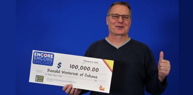 Oshawa man wins $100,000 with Encore