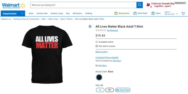 Walmart faces criticism for 'All Lives Matter' and 'Irish Lives Matter' clothing