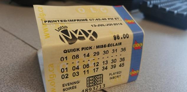 Winning Lotto Max jackpot ticket sold in Ottawa