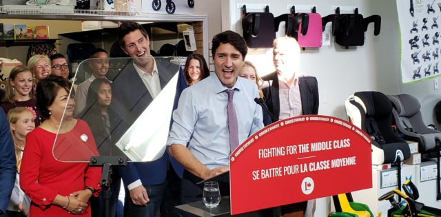 Justin Trudeau campaigns in Whitby